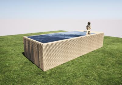 Projet piscine container hors-sol à Liège