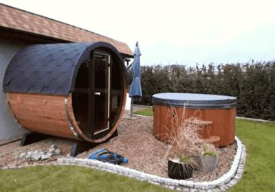 Installation d'un sauna et d'un bain nordique pour terrasse à Liège