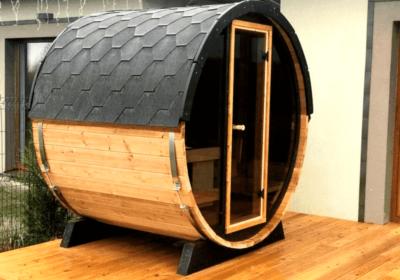 Installation d'un sauna sur une terrasse à Liège