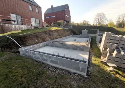 Installation d'une piscine semi-enterrée à Liège